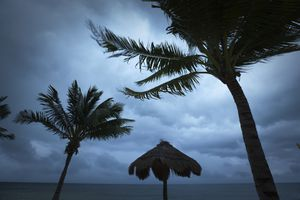 Stormy weather in Cancun