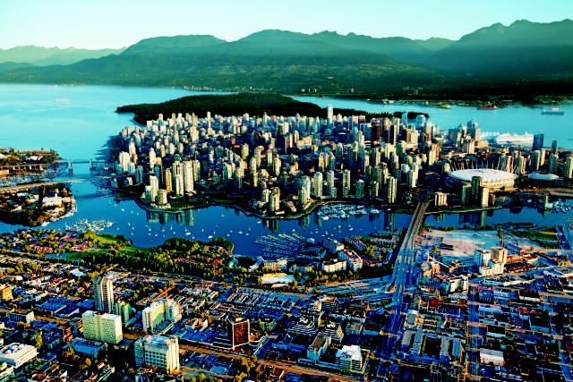 Aerial of the City of Vancouver, British Columbia