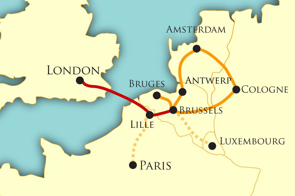 Antwerp Map Europe.Map And Guide To The Best Of Northern Europe Itinerary