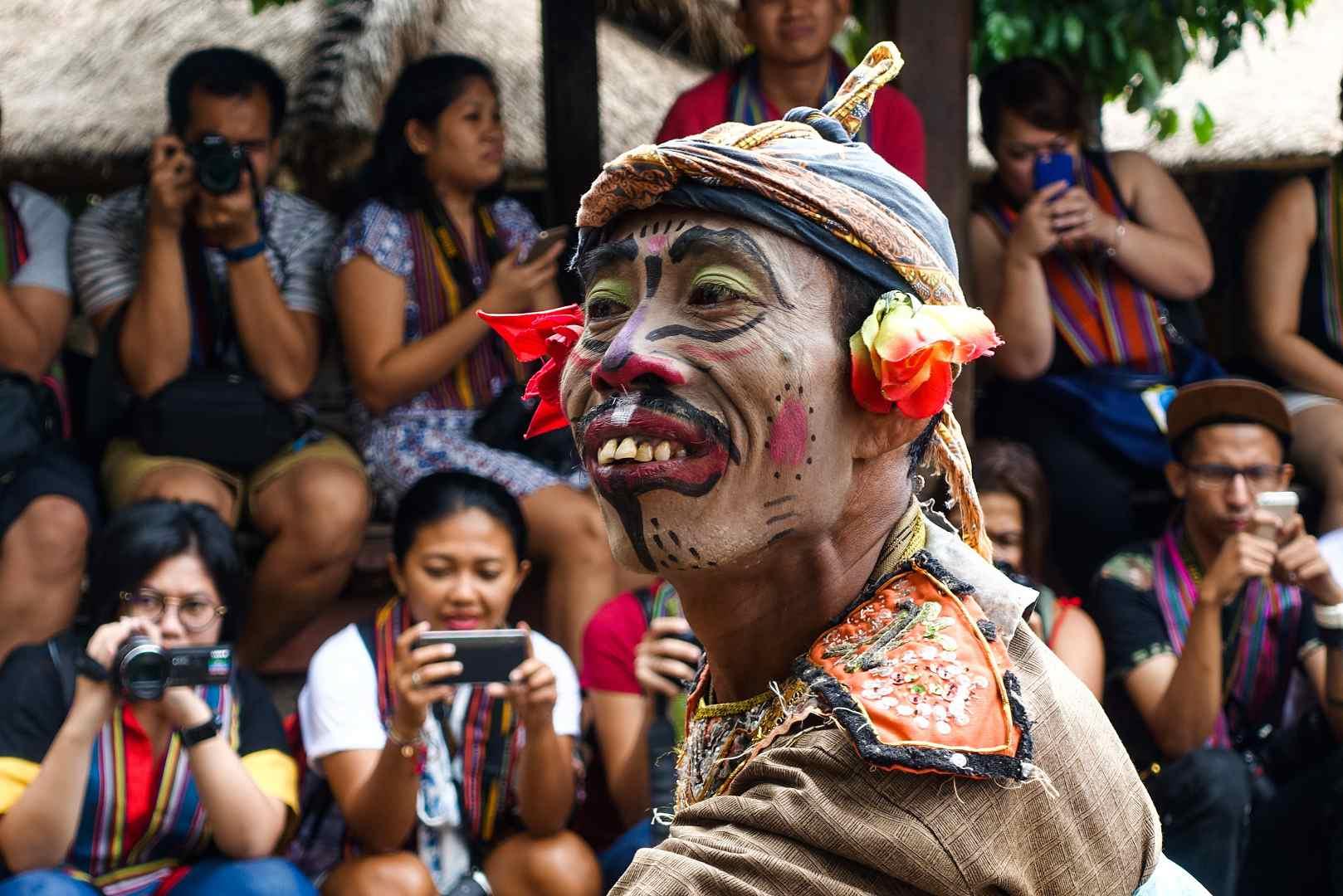 Court jester, Sasak Sade Village, Lombok, Indonesia