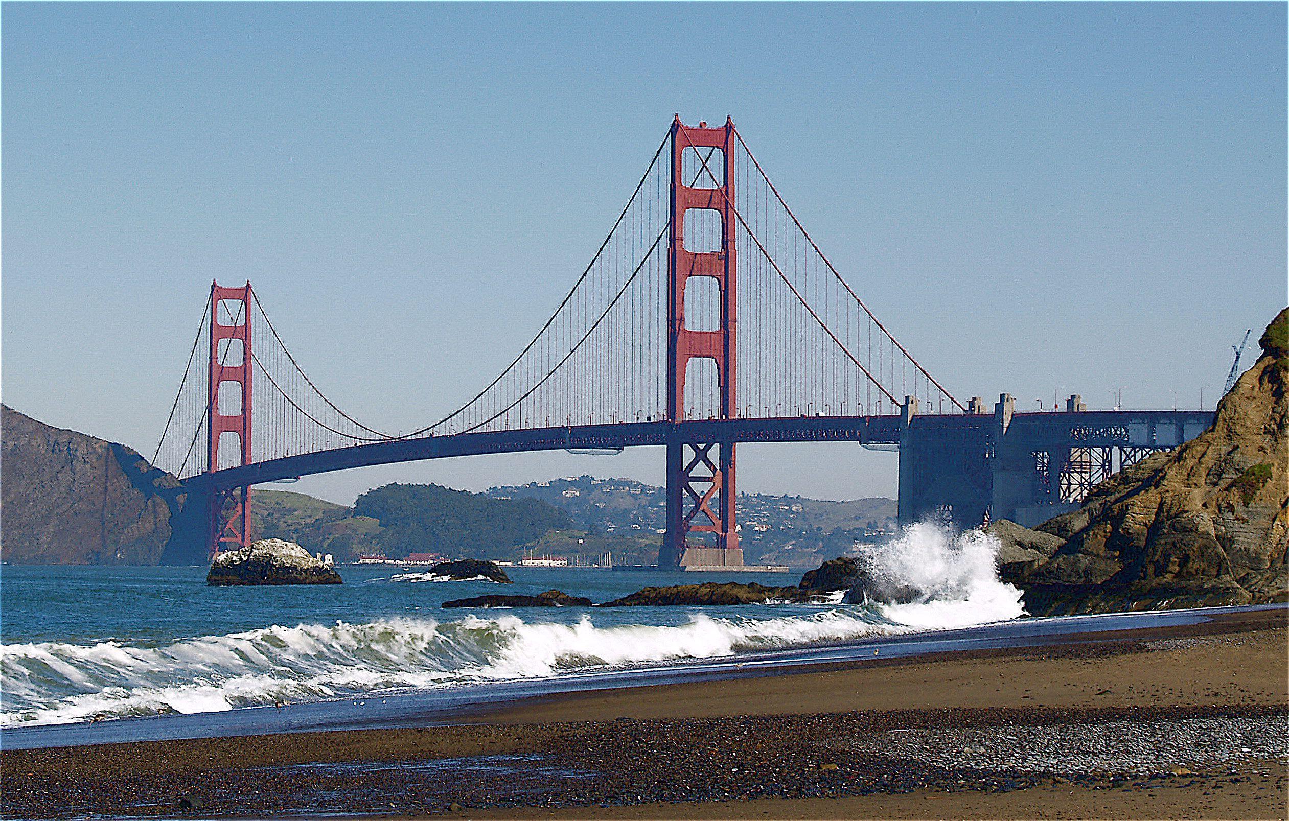 San Francisco Golden Gate Bridge en Baker Beach