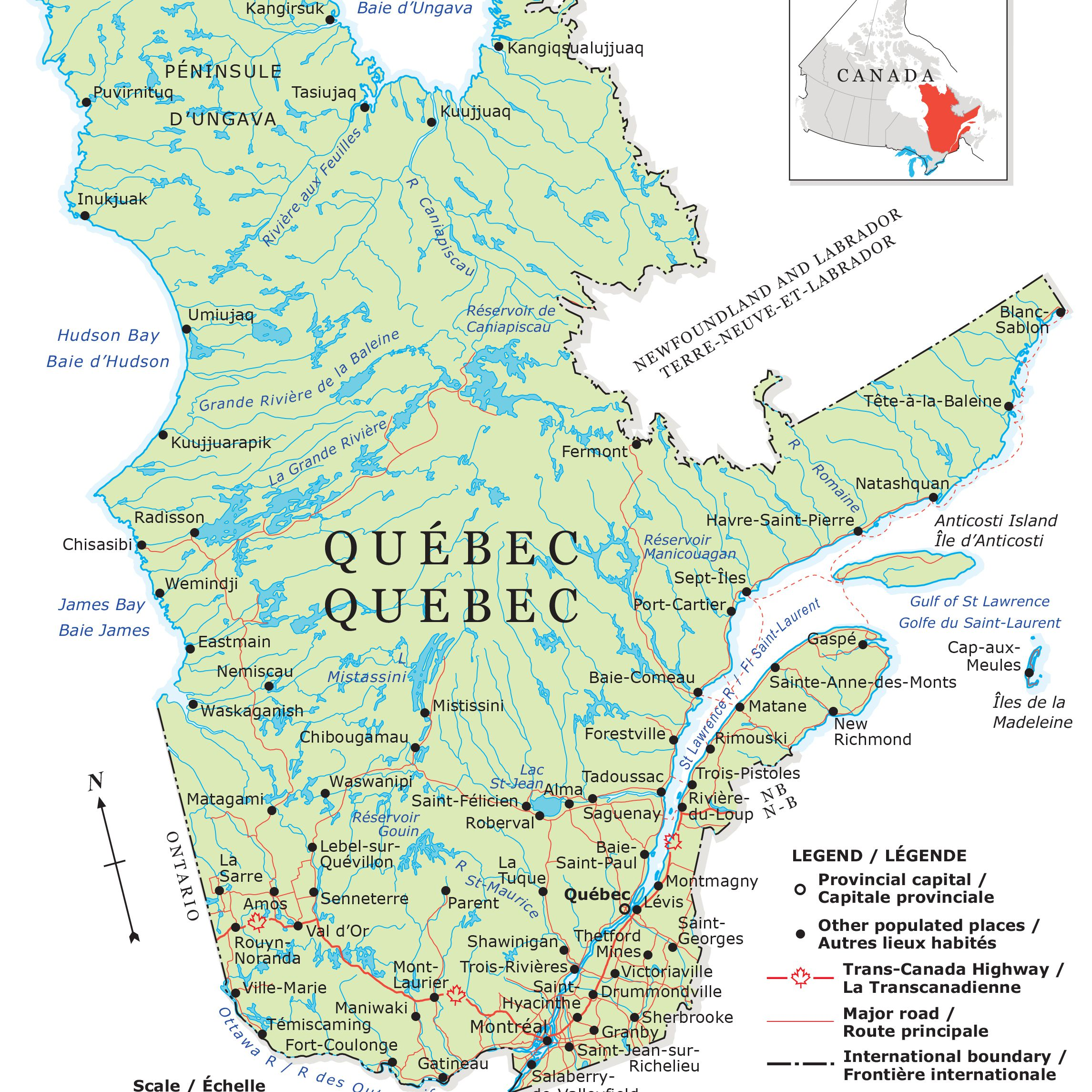 Map Of Canada With Cities And Provinces.Guide To Canadian Provinces And Territories