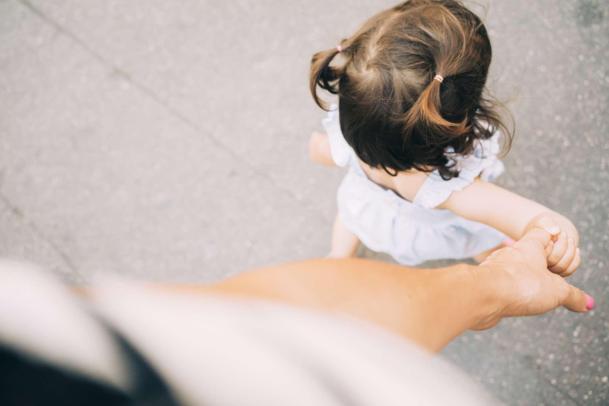 Walking with toddler