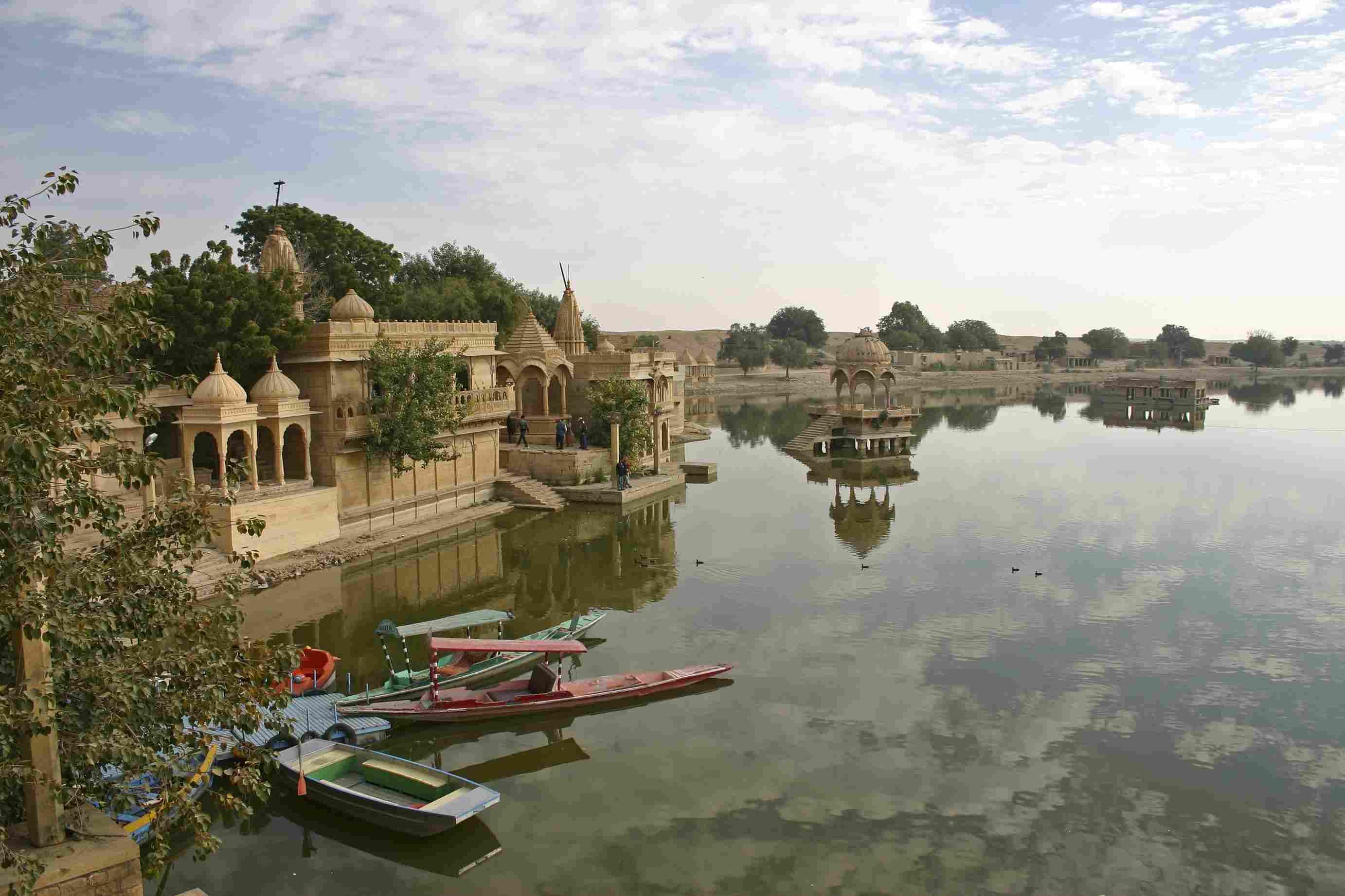 Gadsisar Lake in Jaisalmer, India