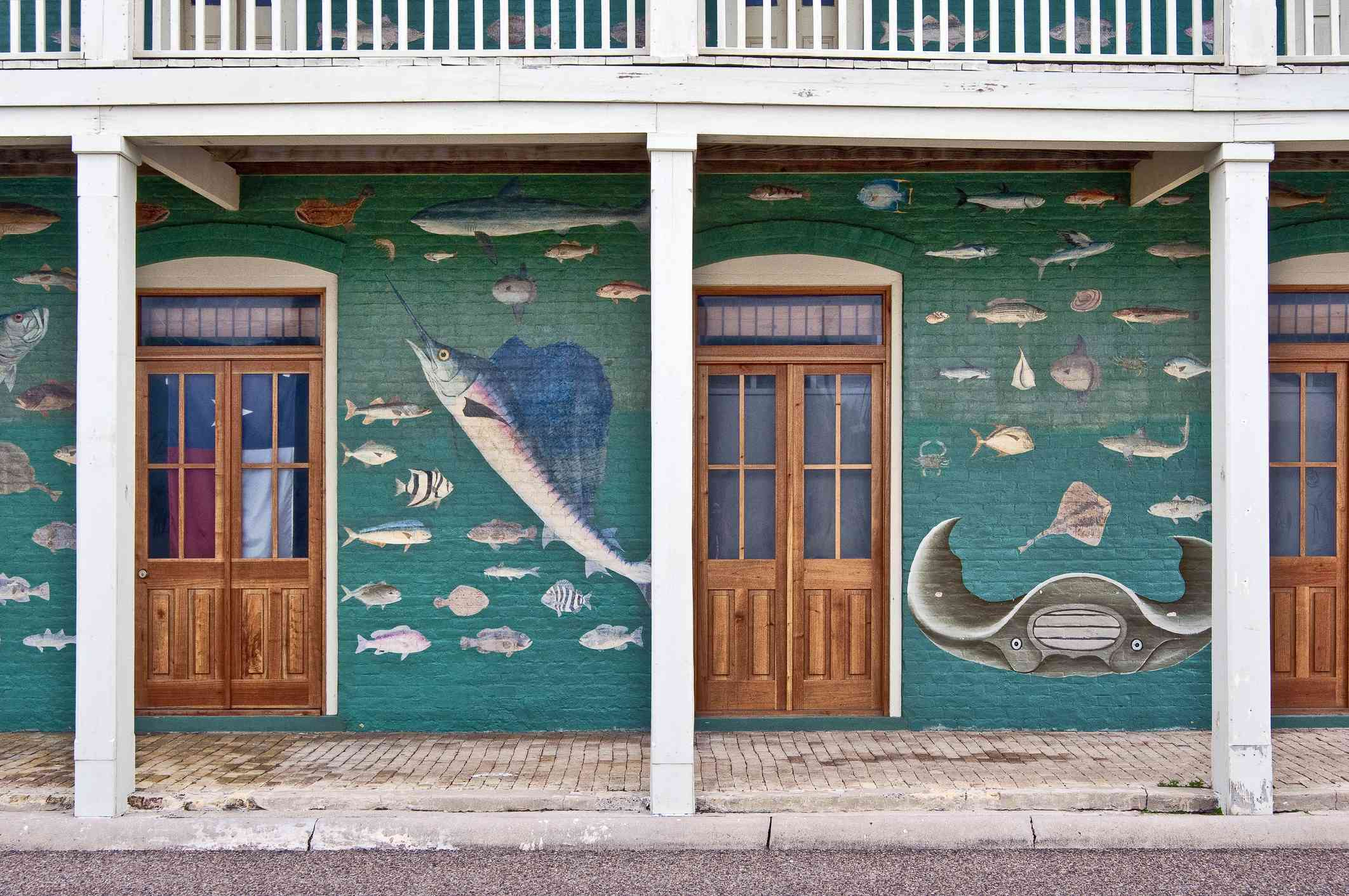 The Key of the Gulf, historic mural in Port Isabel
