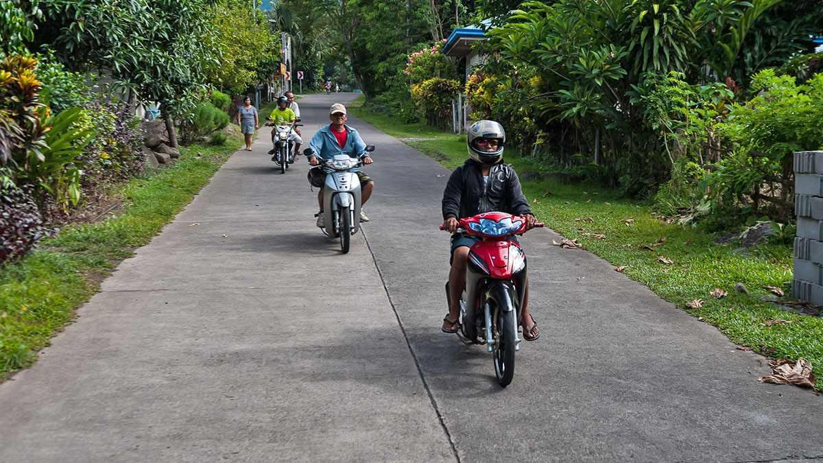 Habal-habal motorbikes around Camiguin, Philippines