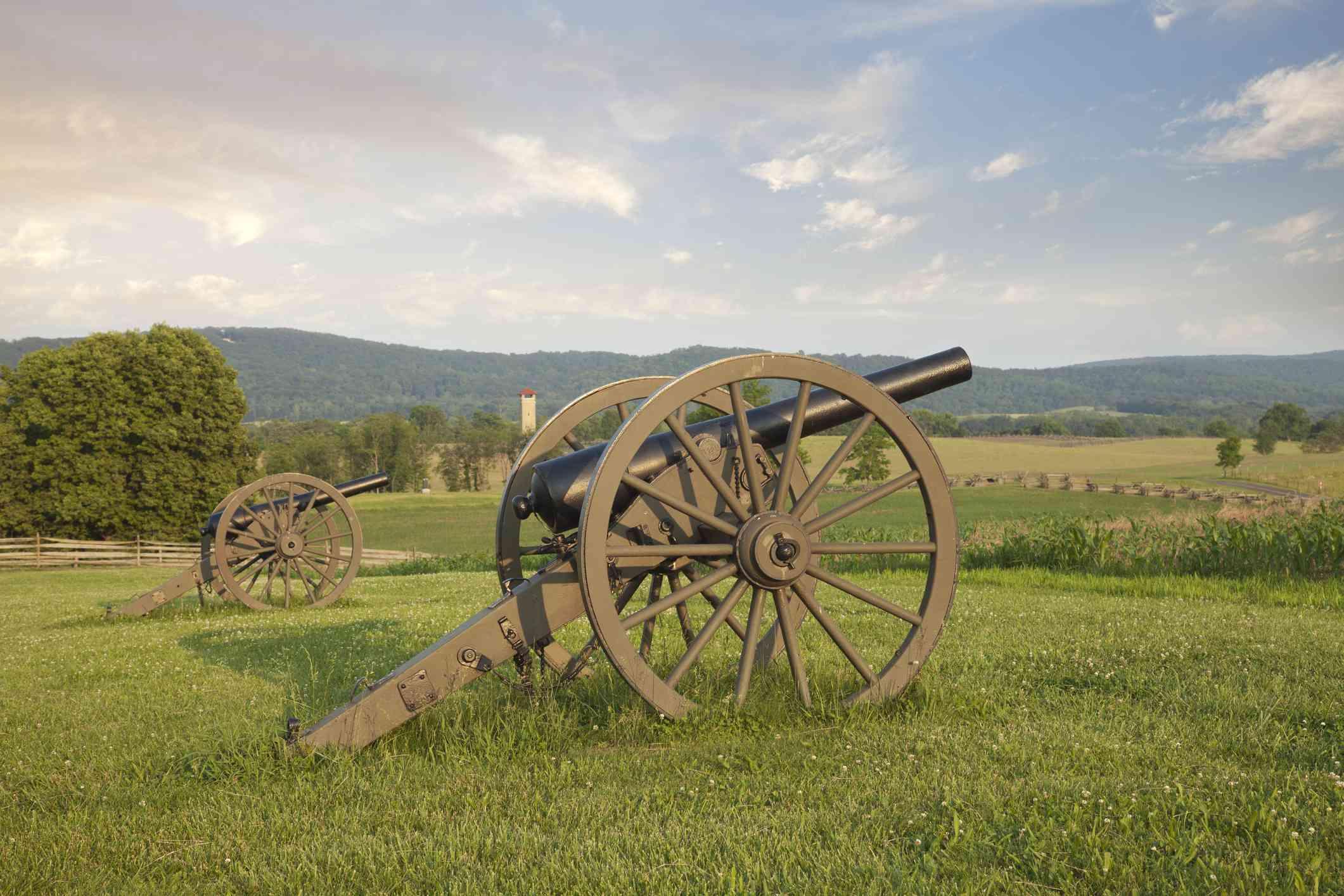 Cannons at Antietam (Sharpsburg) Battlefield
