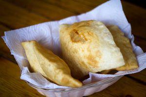 Southwest New Mexican Cuisine: Basket of Sopapillas (Close-Up)
