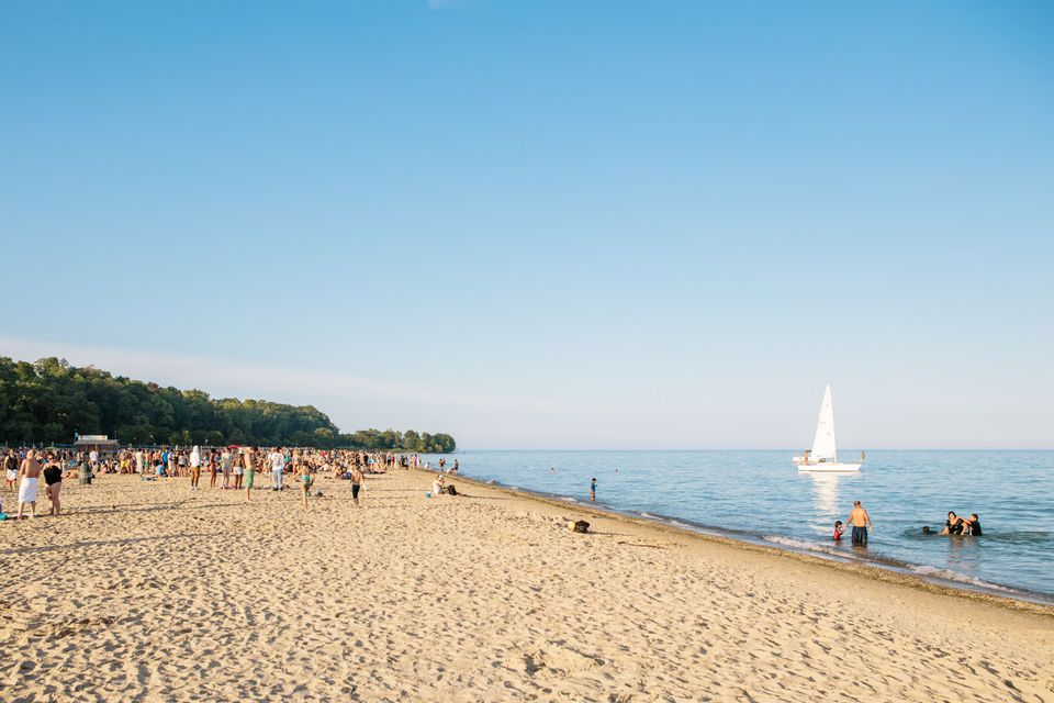 Bradford Beach in Milwaukee