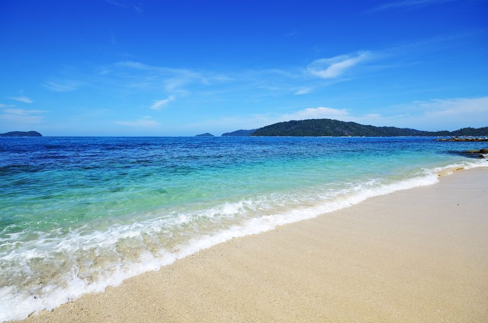 Beach in Kota Kinabalu, Sabah Borneo, Malaysia.