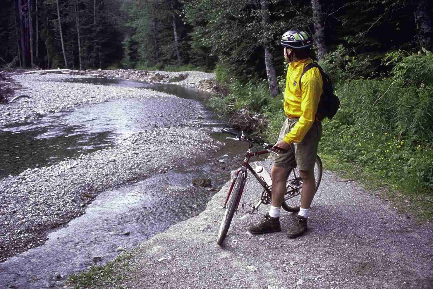 Photo of Bicyclist Along Snohomish River