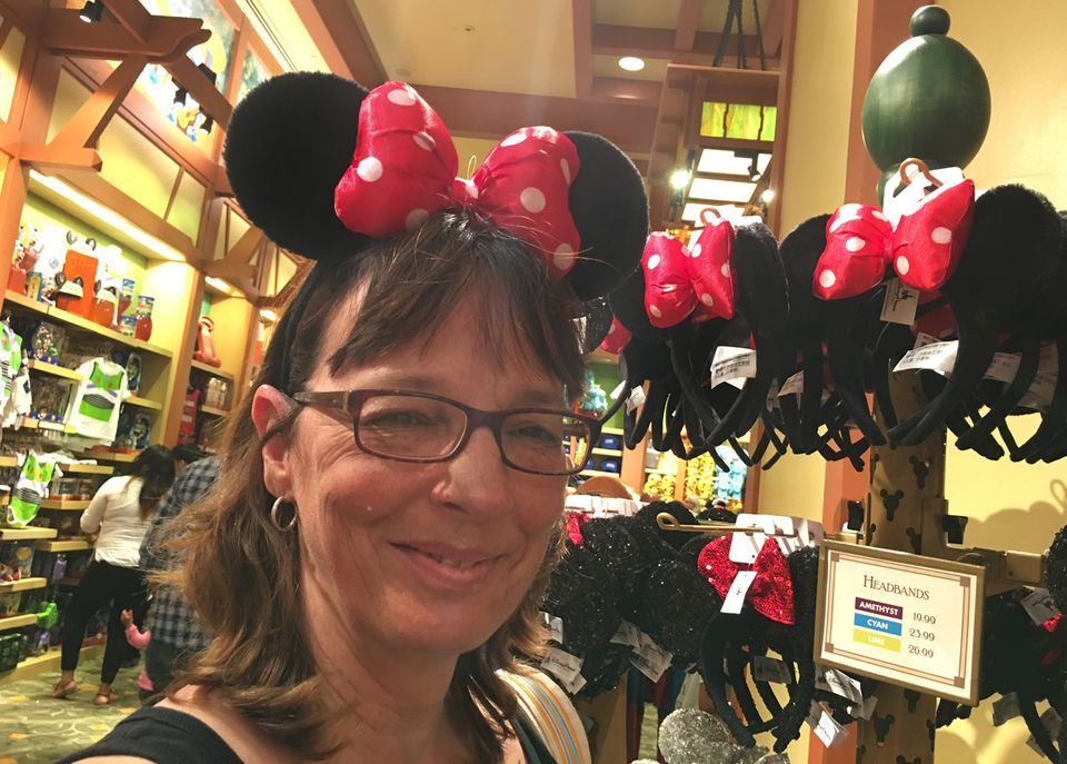 Shopping at Disneyland