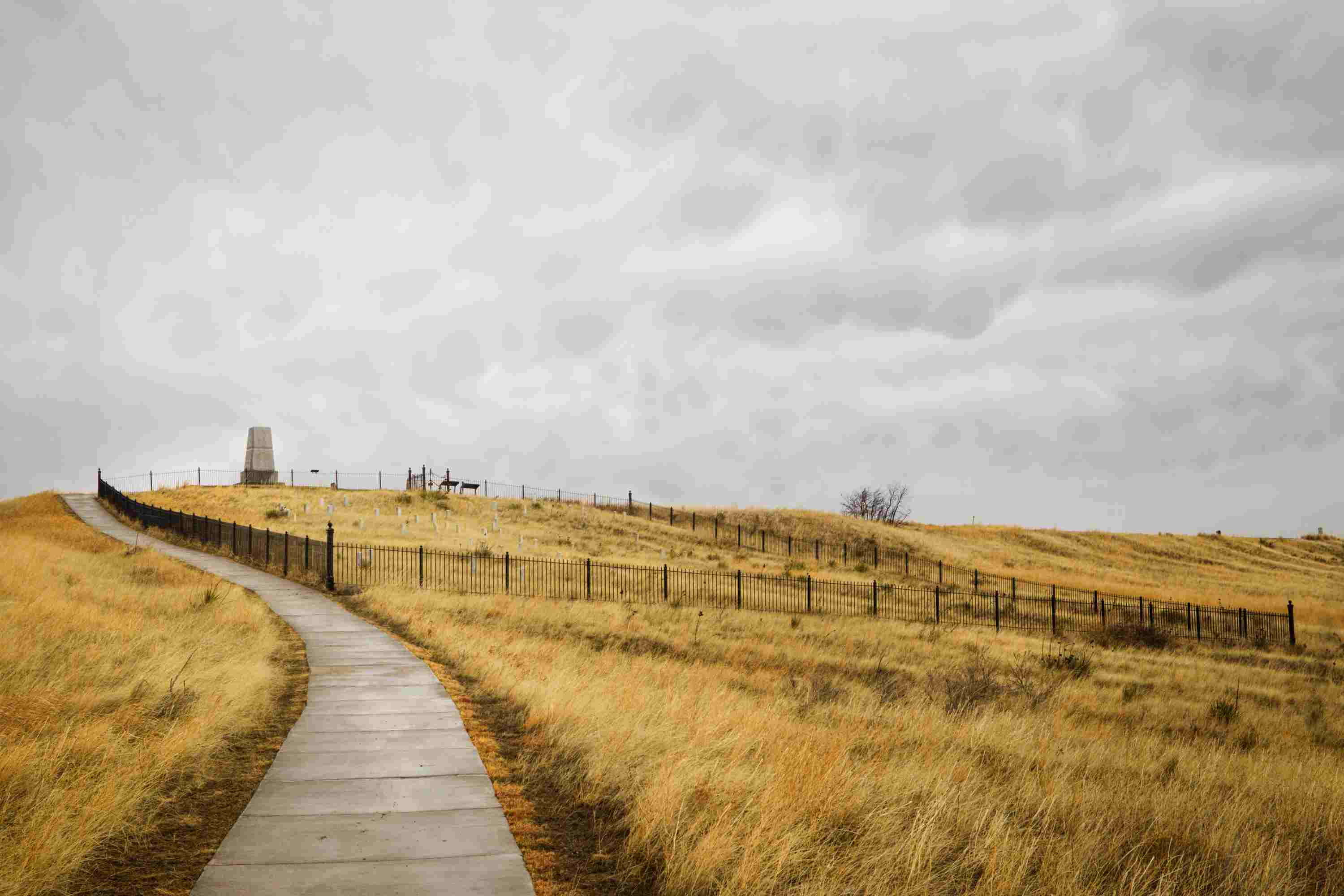 Last Stand Hill at Little Bighorn Battlefield National Monument