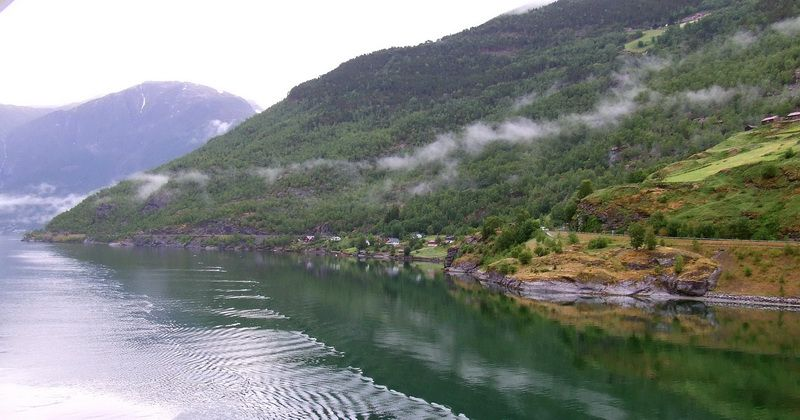 Fjords of Norway - Sailing into Aurlandsfjord from Sognefjord on the Way to Flam, Norway
