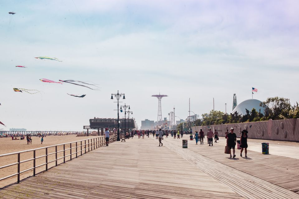 View of the Coney Island Boardwalk