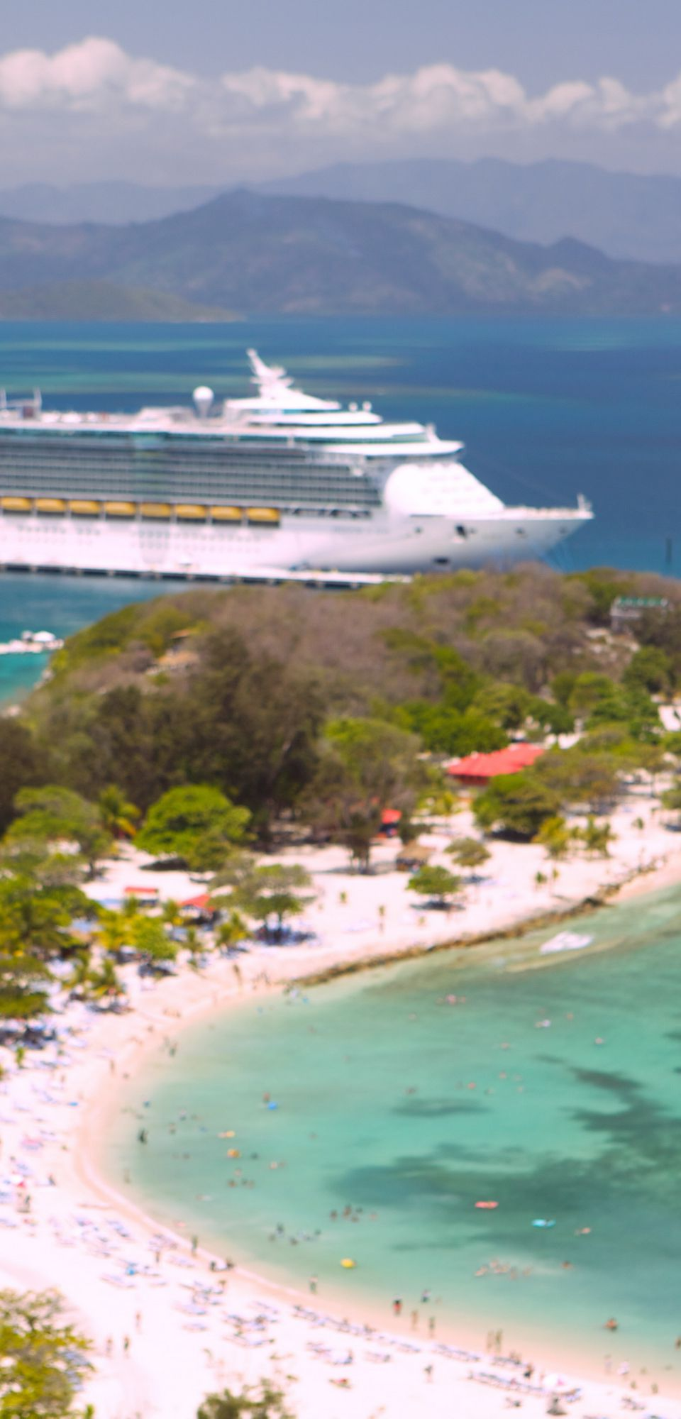 Freedom of the Seas at Labadee in Haiti