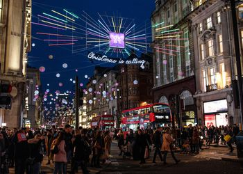 Oxford Circus Christmas Lights in London