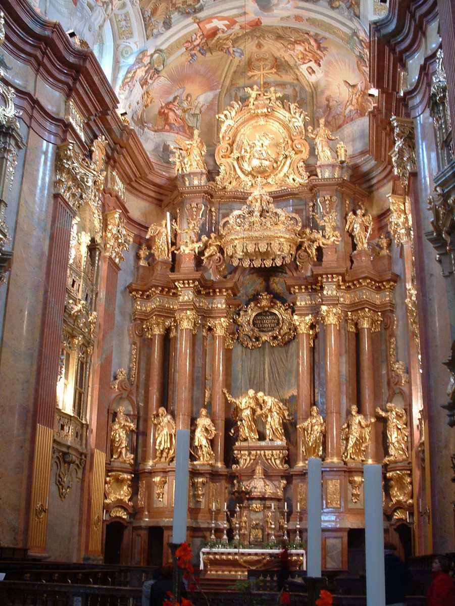 Interior of Church at Melk Abbey