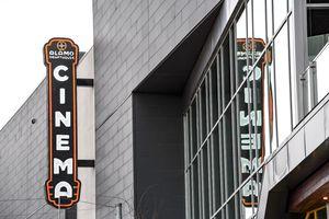 Sign for Alamo Cinema