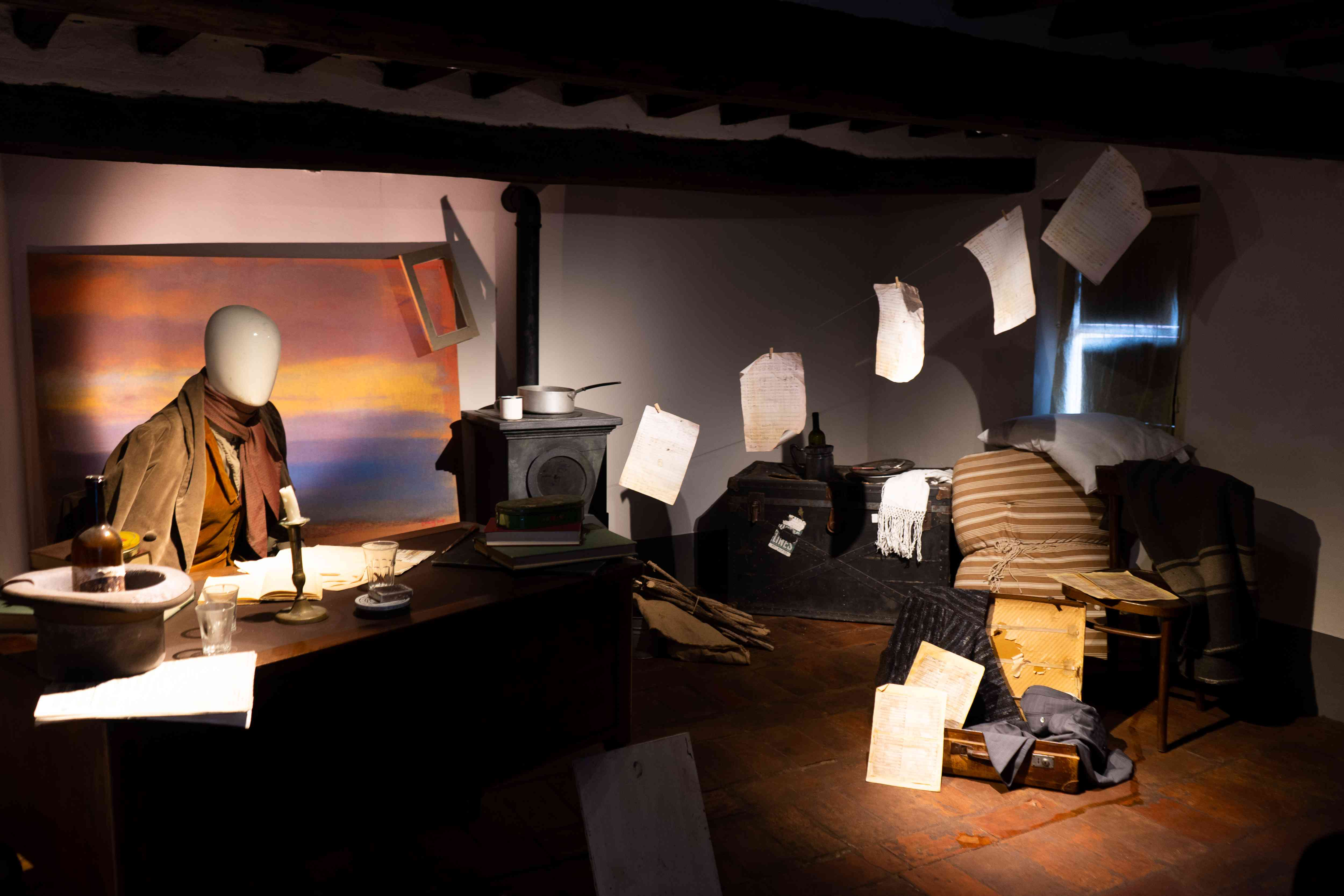 An exhibit in the Puccini House Museum