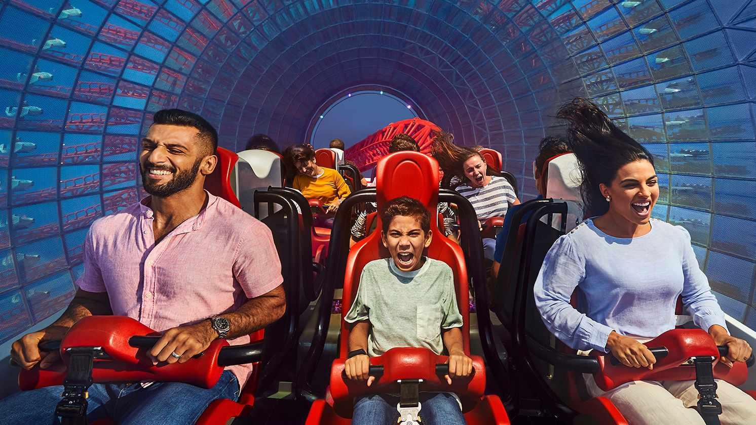 Turbo Track coaster at Ferrari World Abu Dhabi