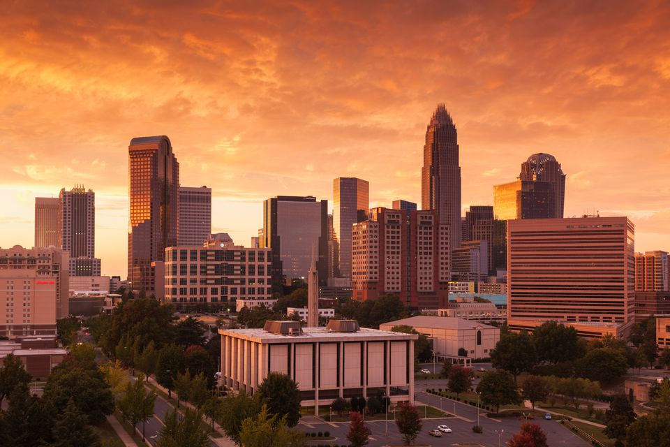 Charlotte, North Carolina, at sunset