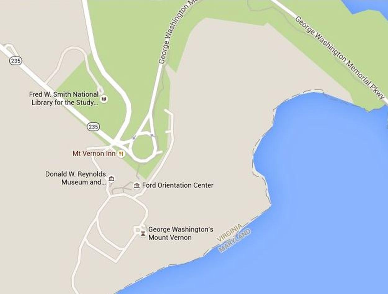 Mt Vernon Washington Map.Mount Vernon Estate Map And Directions