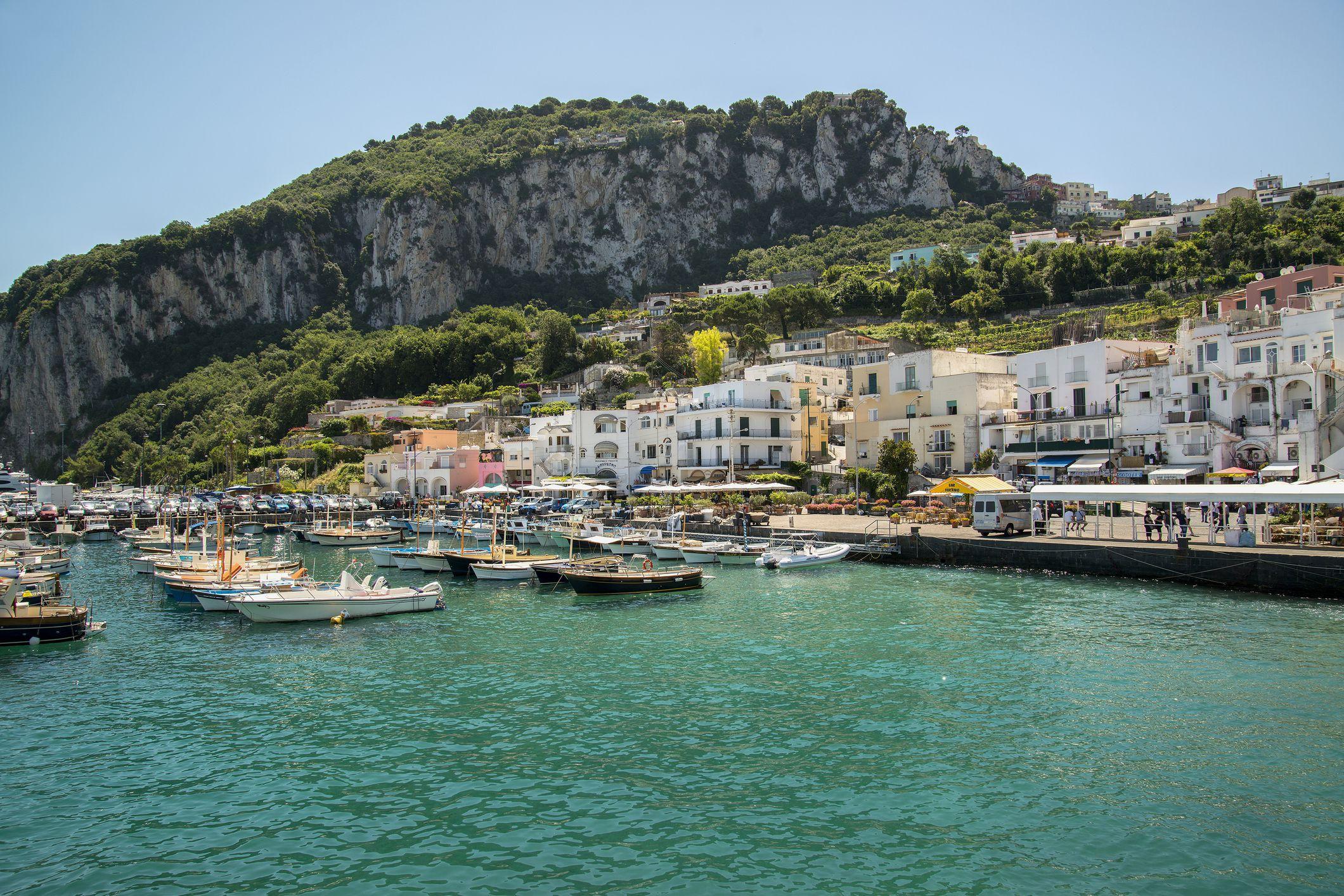 Capri Harbor, Campania, Italy
