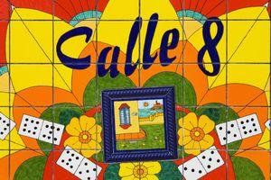 Calle Ocho (Eighth Street) Mosaic, Cuban District, Miami, Florida, USA
