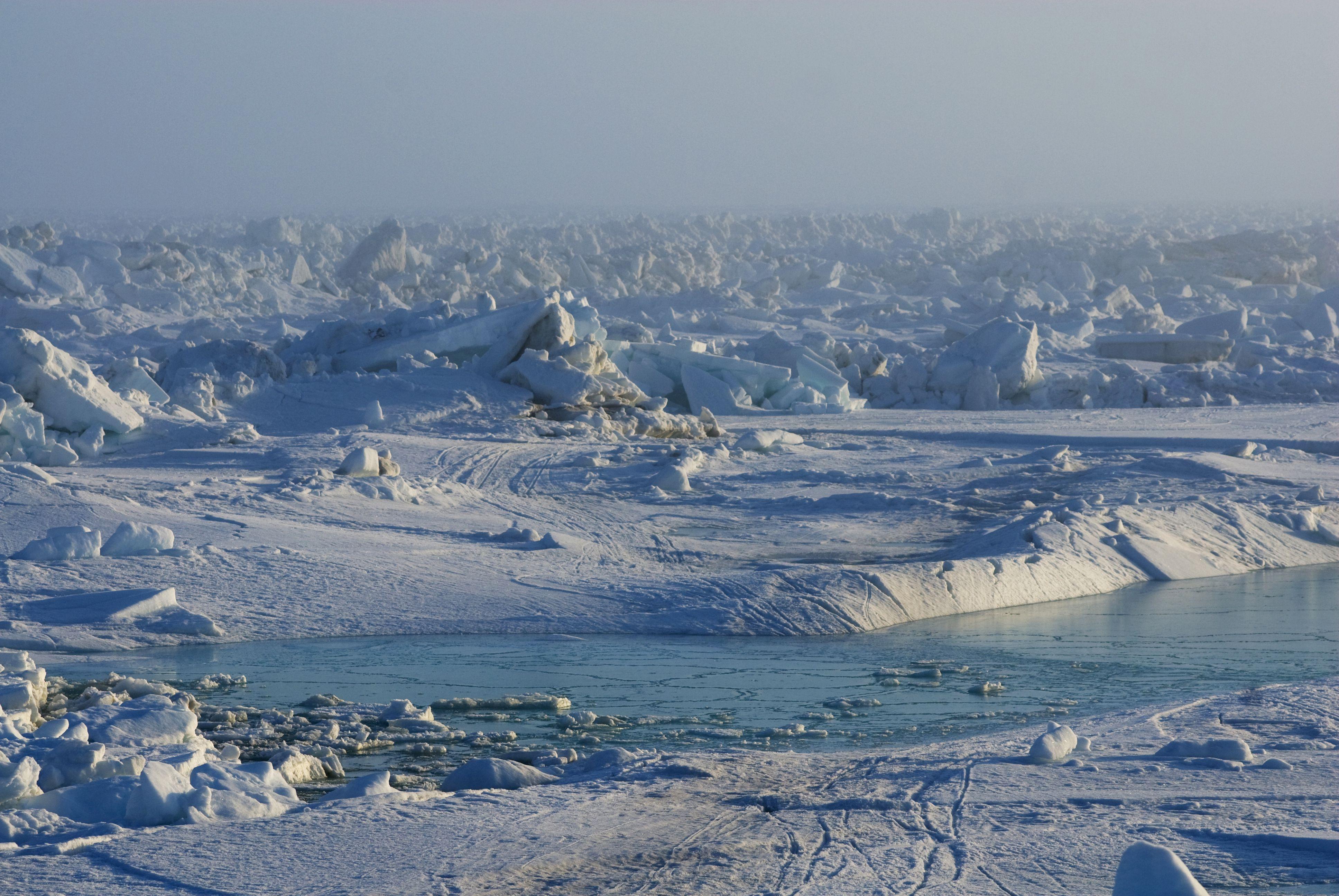 Tschuktschensee, Off shore, Landschaft von spring break des Meereises, Barrow, Alaska, USA