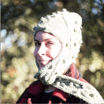 Picture of Agnes Rivera in a green knit hat