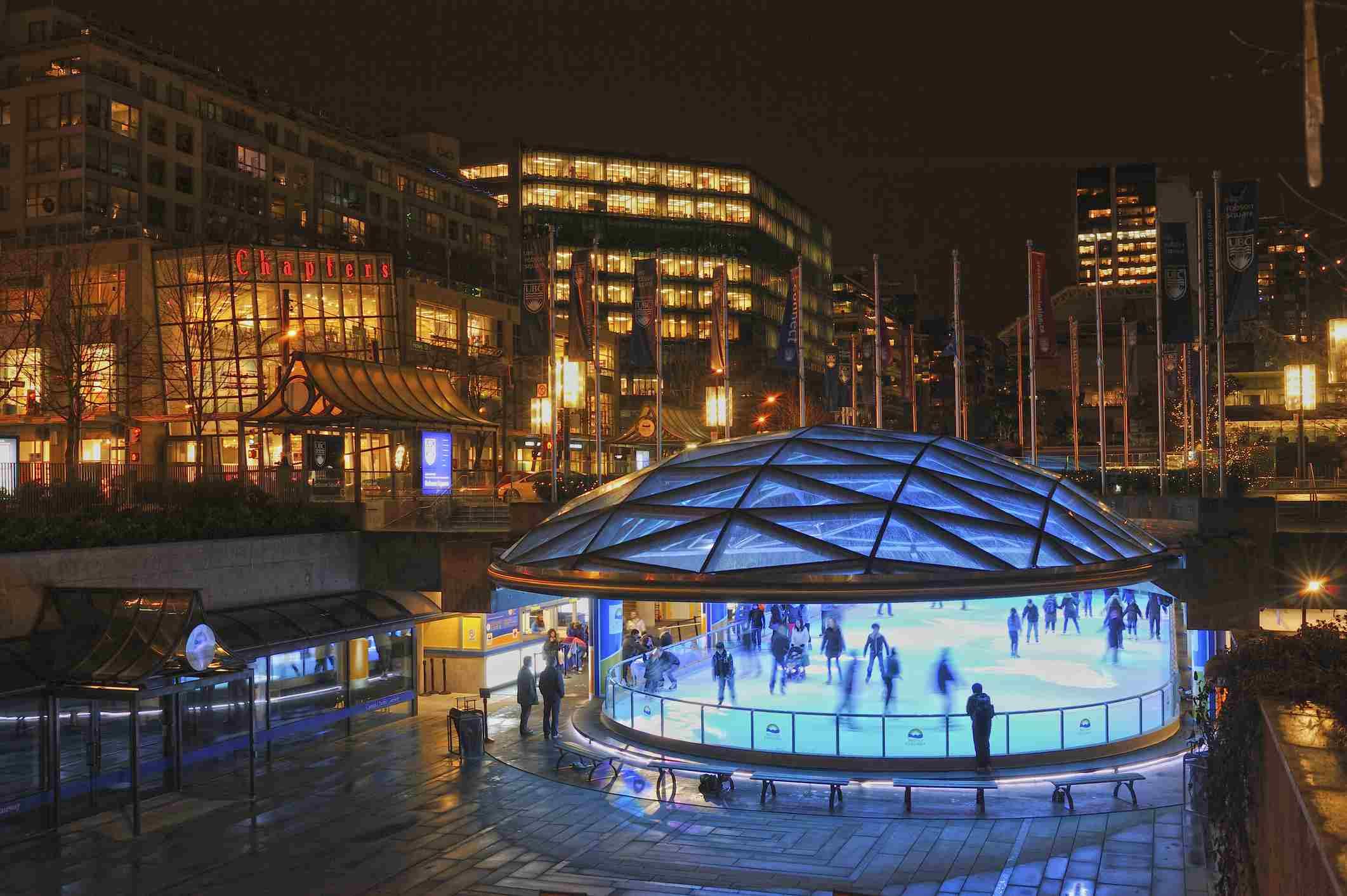 Robson Square Ice Skating Rink, Vancouver, British Columbia, Canada