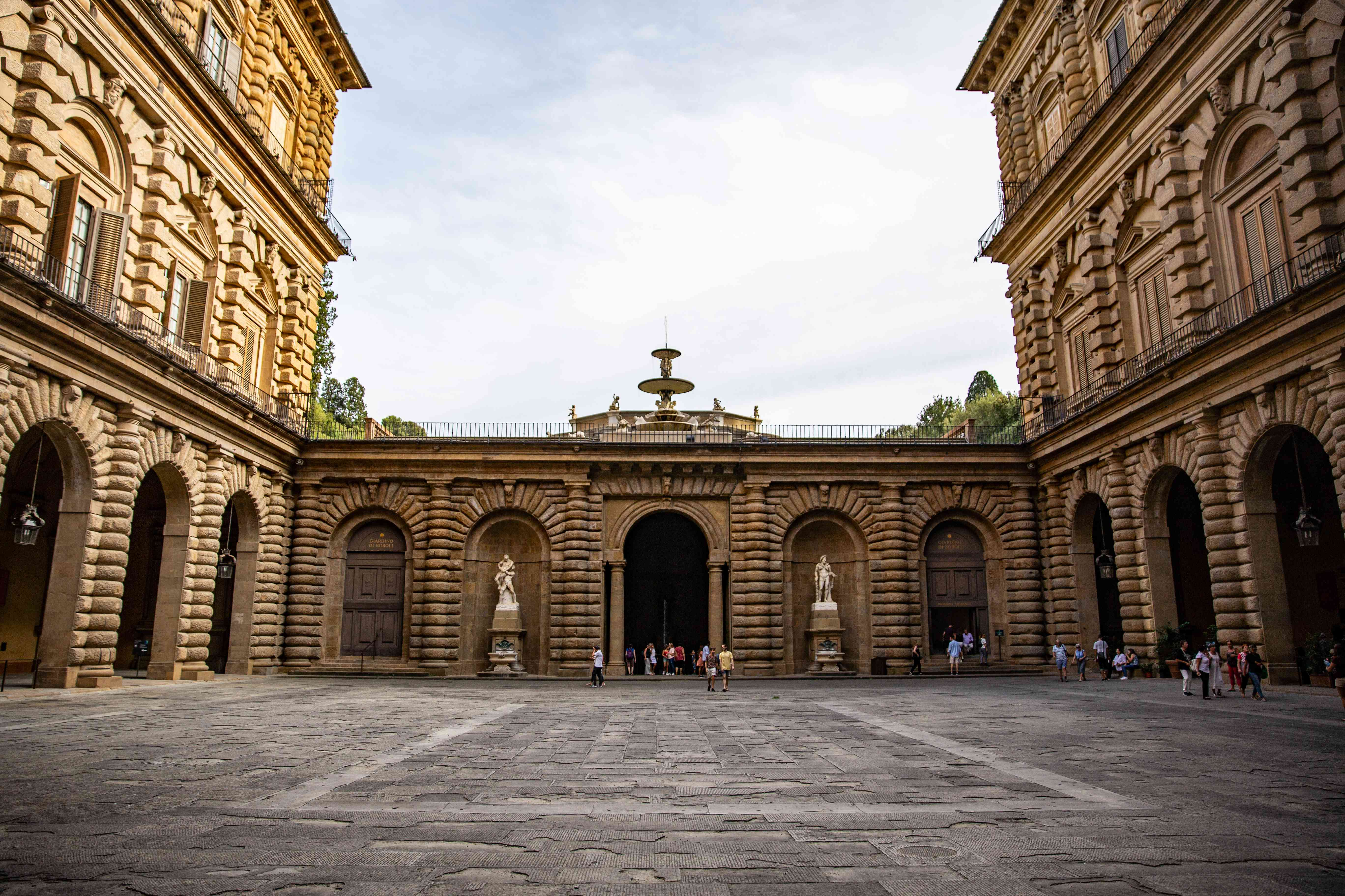 The Pitti Palace in Florence, Italy