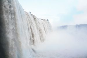 View from the bottom of Iguazu Falls