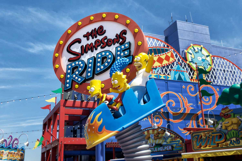 The Ride en Universal Studios Hollywood The Simpsons Ride en Universal Studios