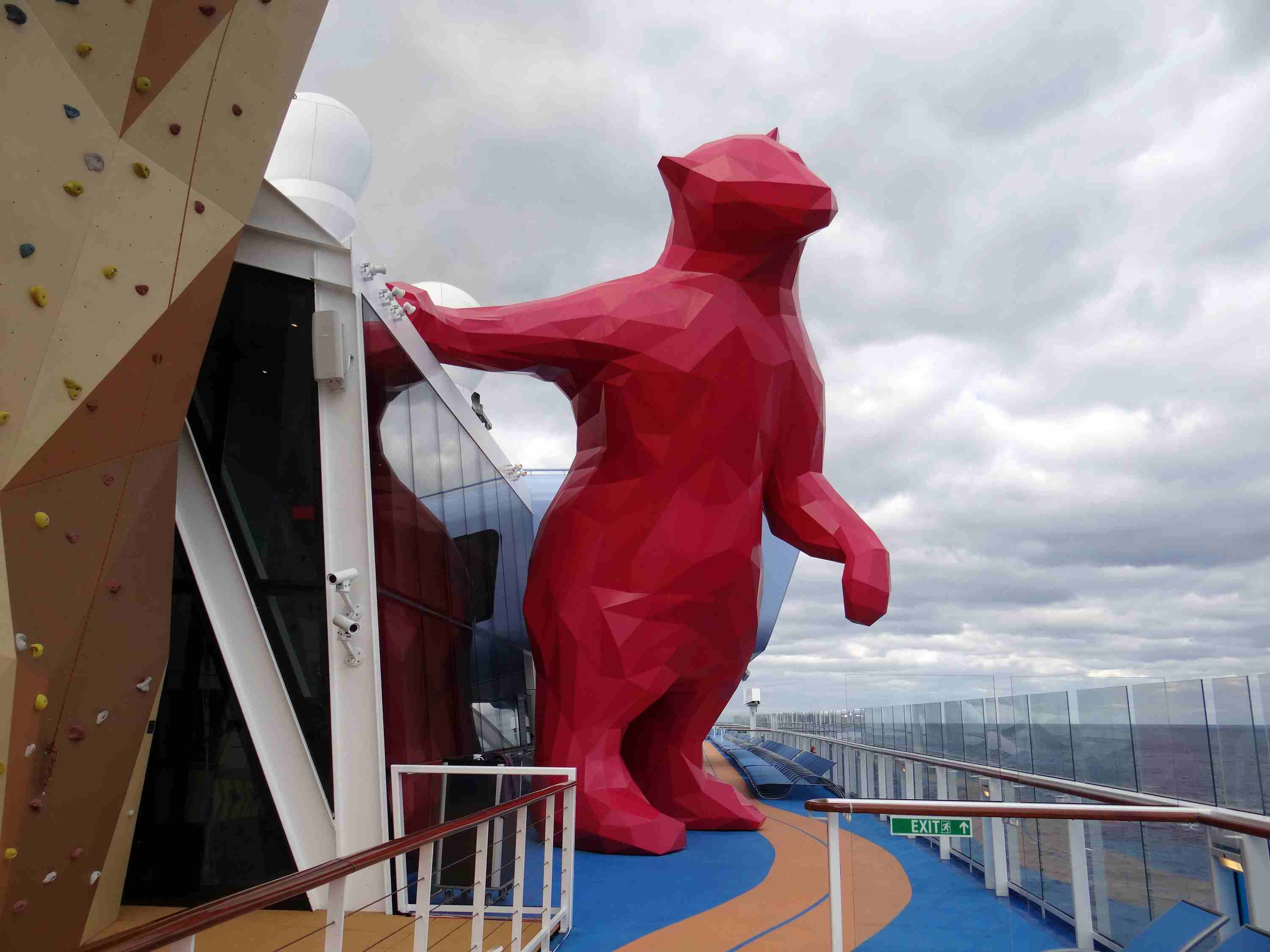 Giant Magenta Bear on the Quantum of the Seas