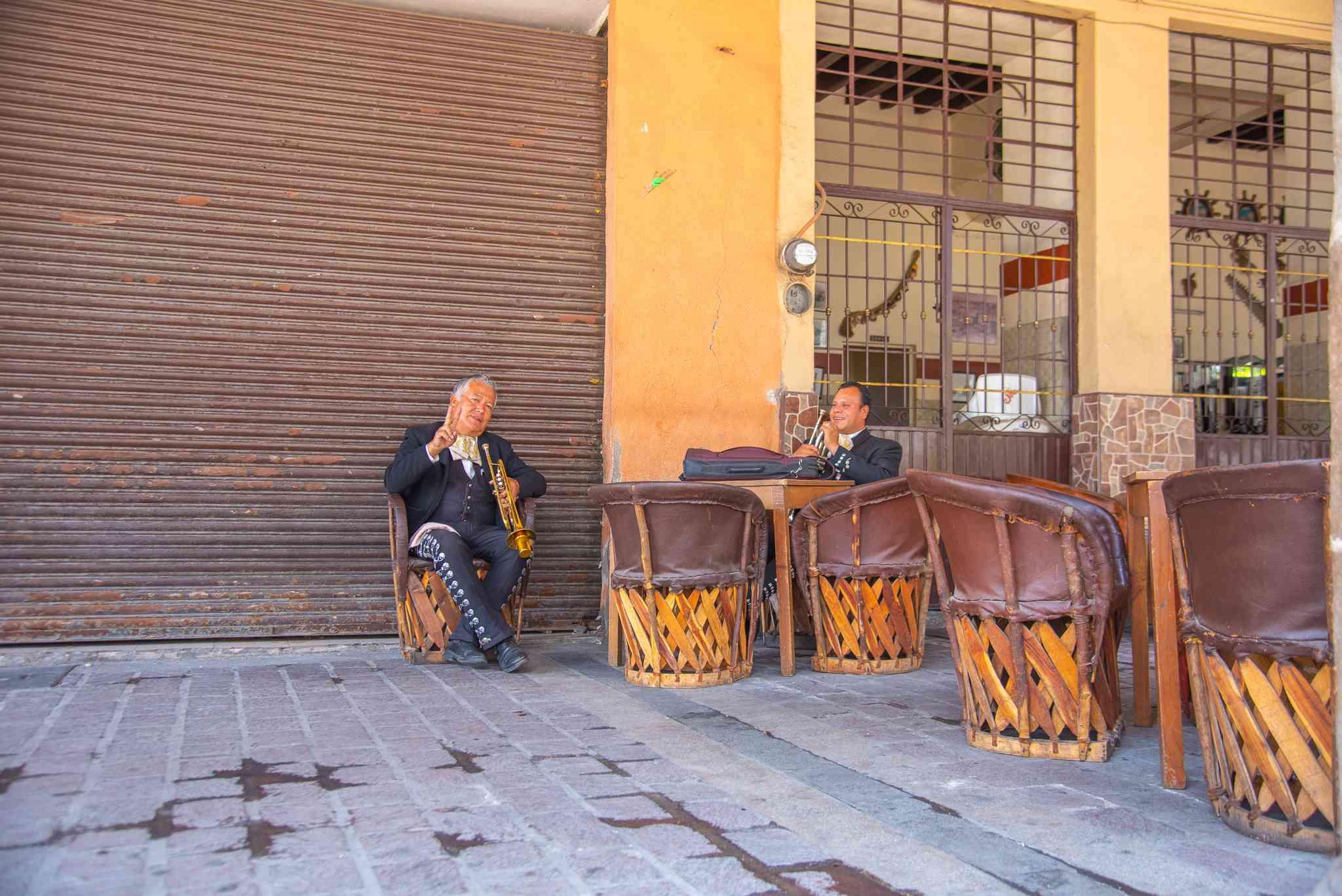 Mariachi band resting