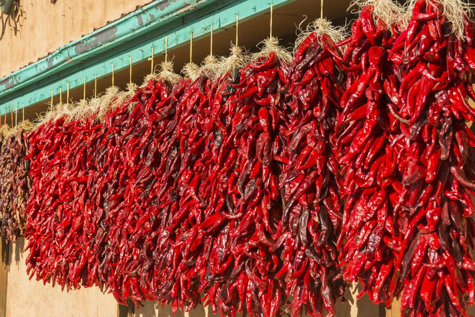 Strings of ristras in New Mexico