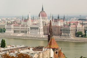Budapest Skyline and Parliament Building, Hungary