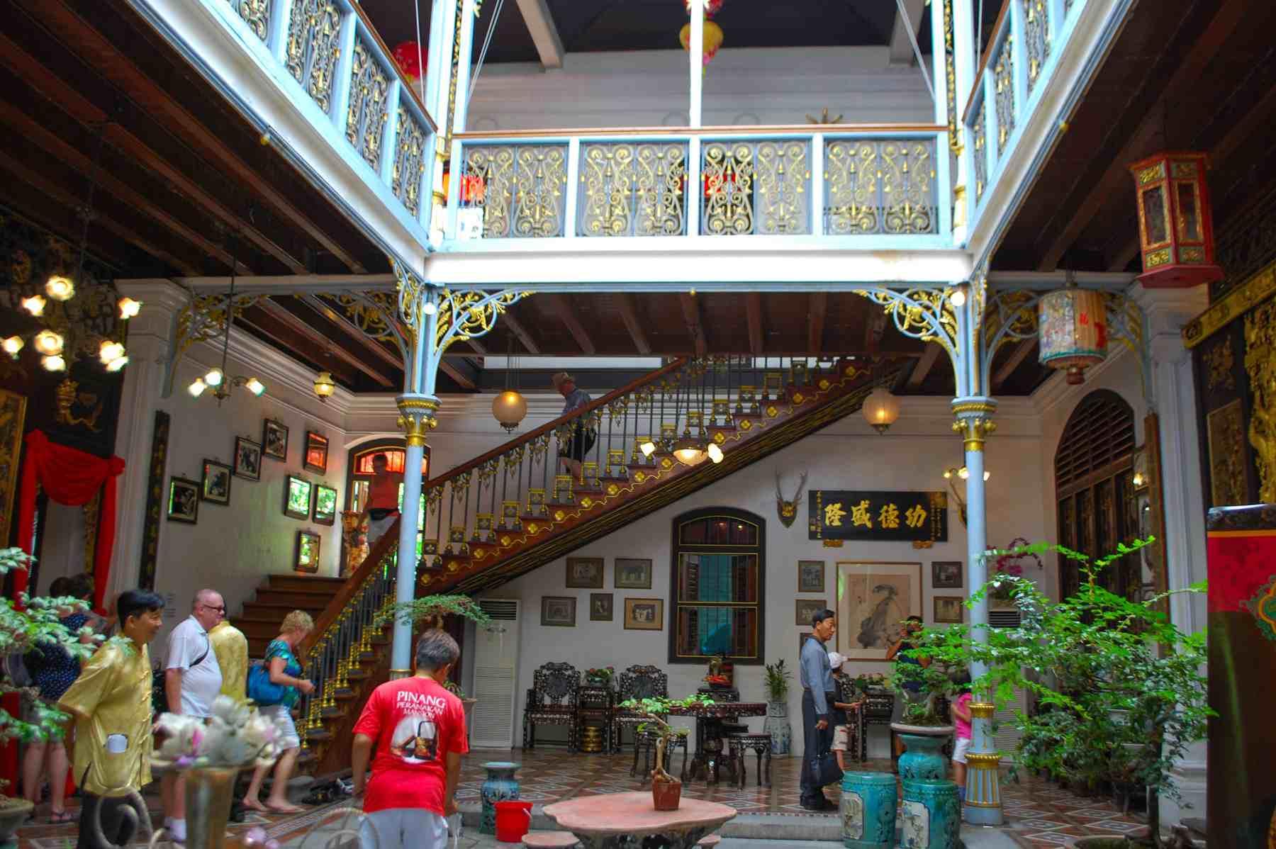 The Courtyard of the Peranakan Mansion, Penang, Malaysia.