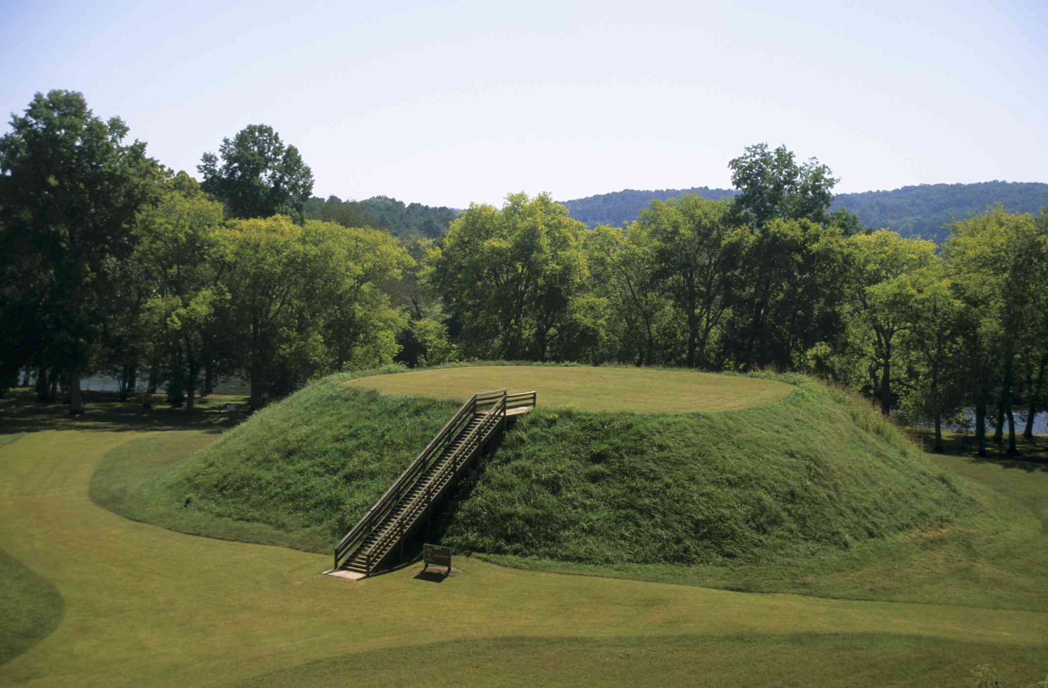 Mound B at the Etowah Indian Mounds State Historic Site