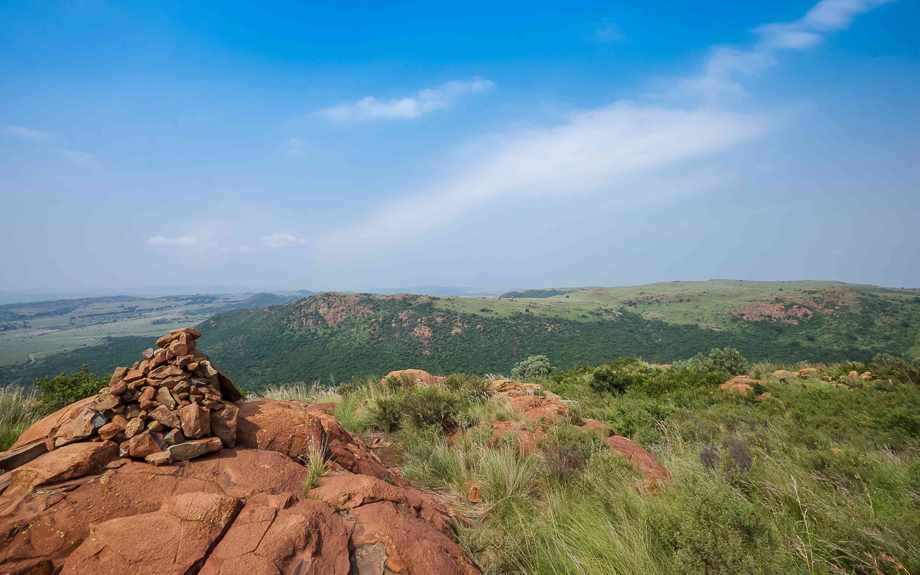 Suikerbosrand Nature Reserve is a protected area south of Johannesburg and is a popular destination for hiking, cycling and game viewing