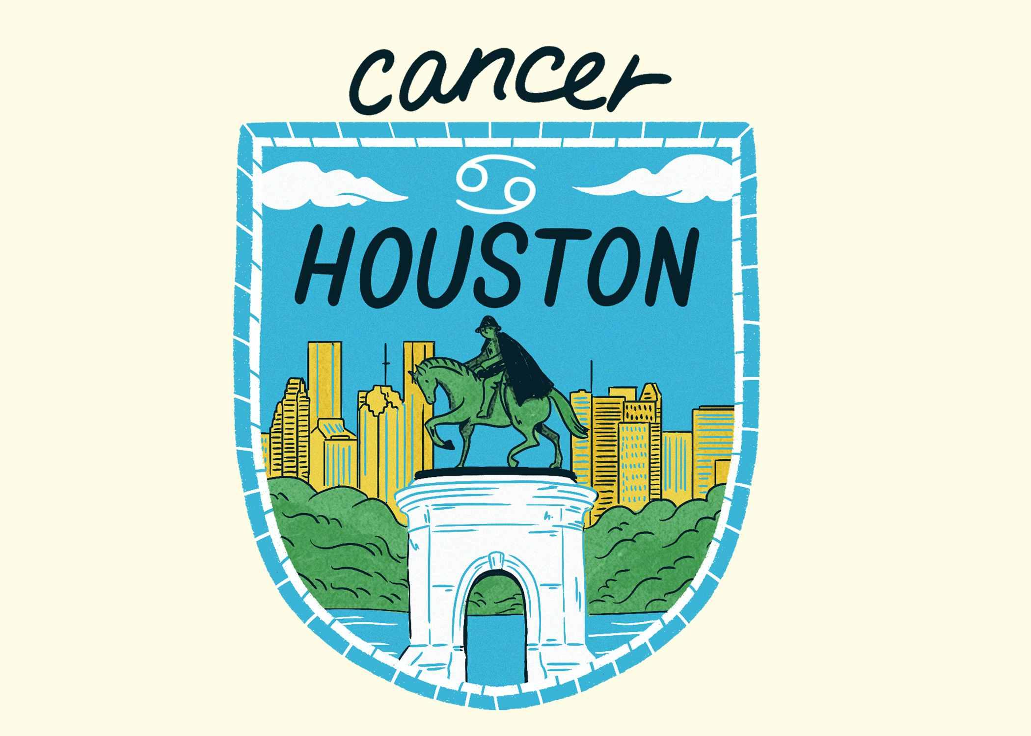 An illustration of Houston for Cancer