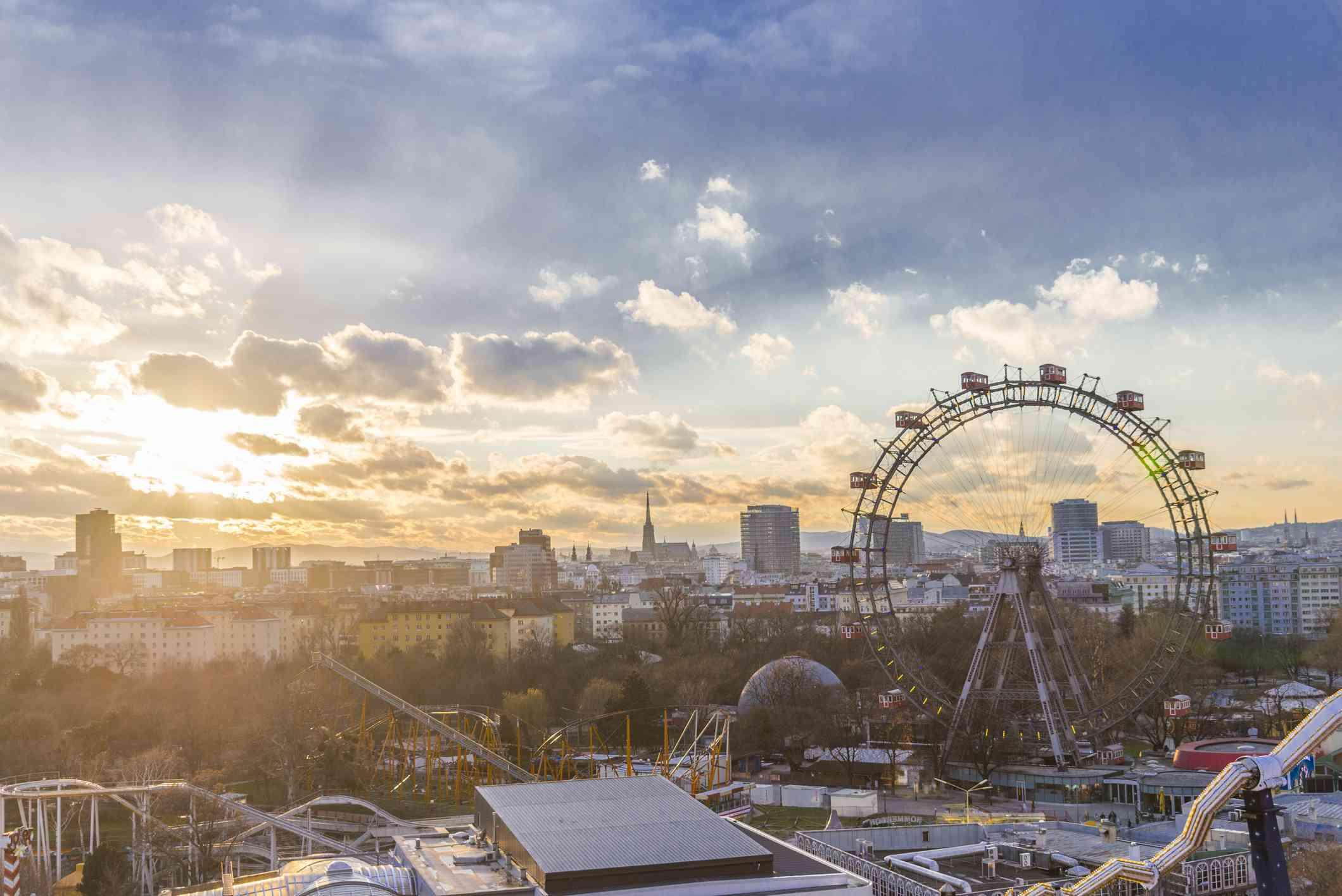 Sunset in Wiener Riesenrad