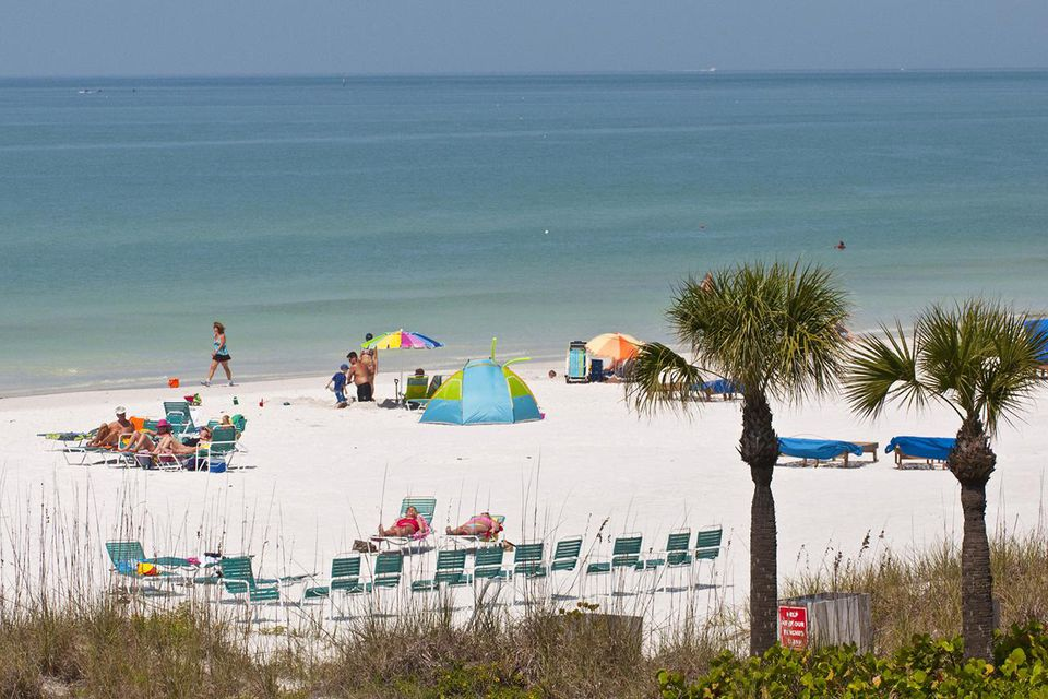 Paisaje marino con playa, Siesta Key, Crescent Beach, Sarasota, Florida, EE. UU.