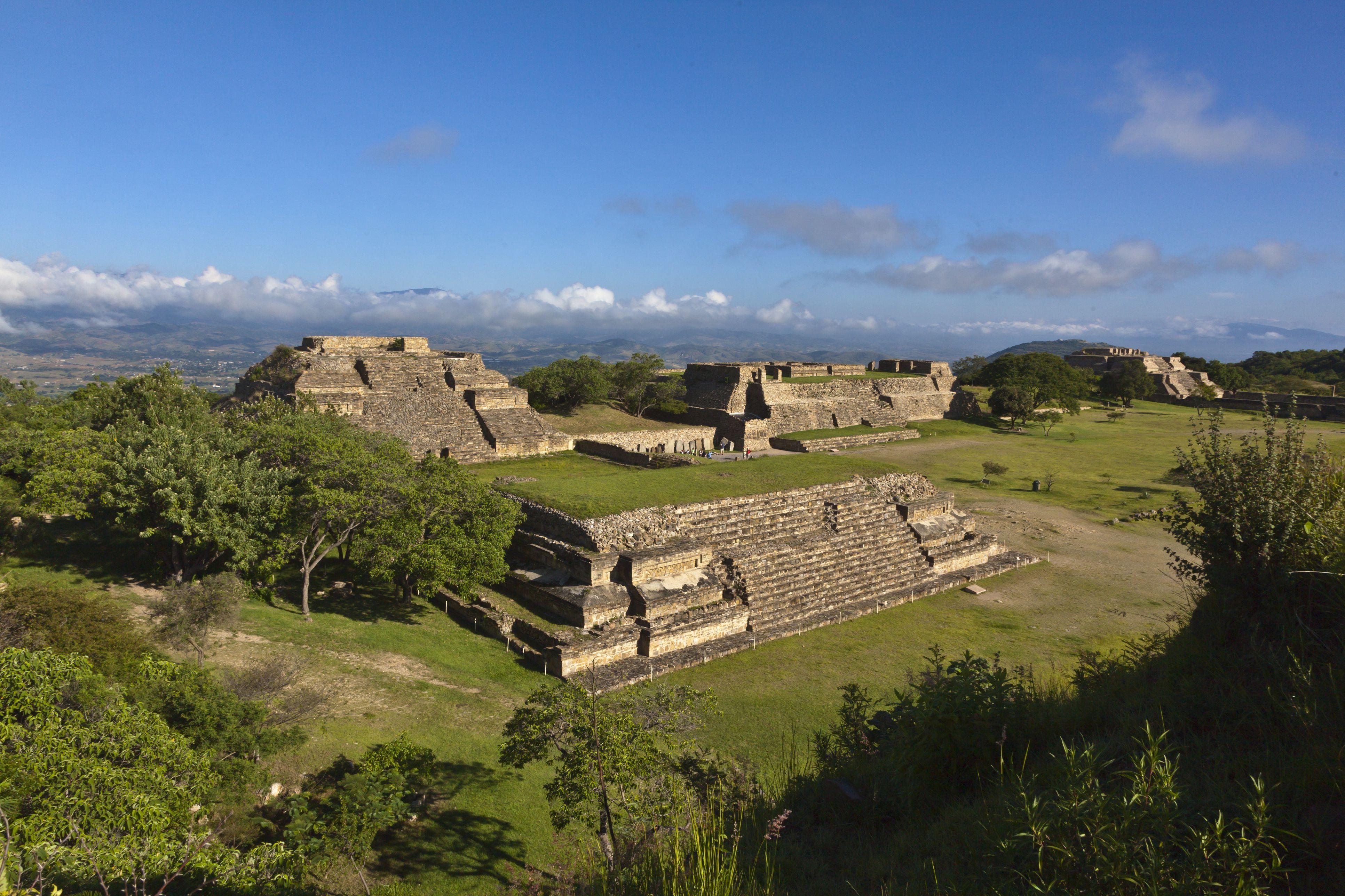 Monte Albán Archaeological Site in Oaxaca, Mexico