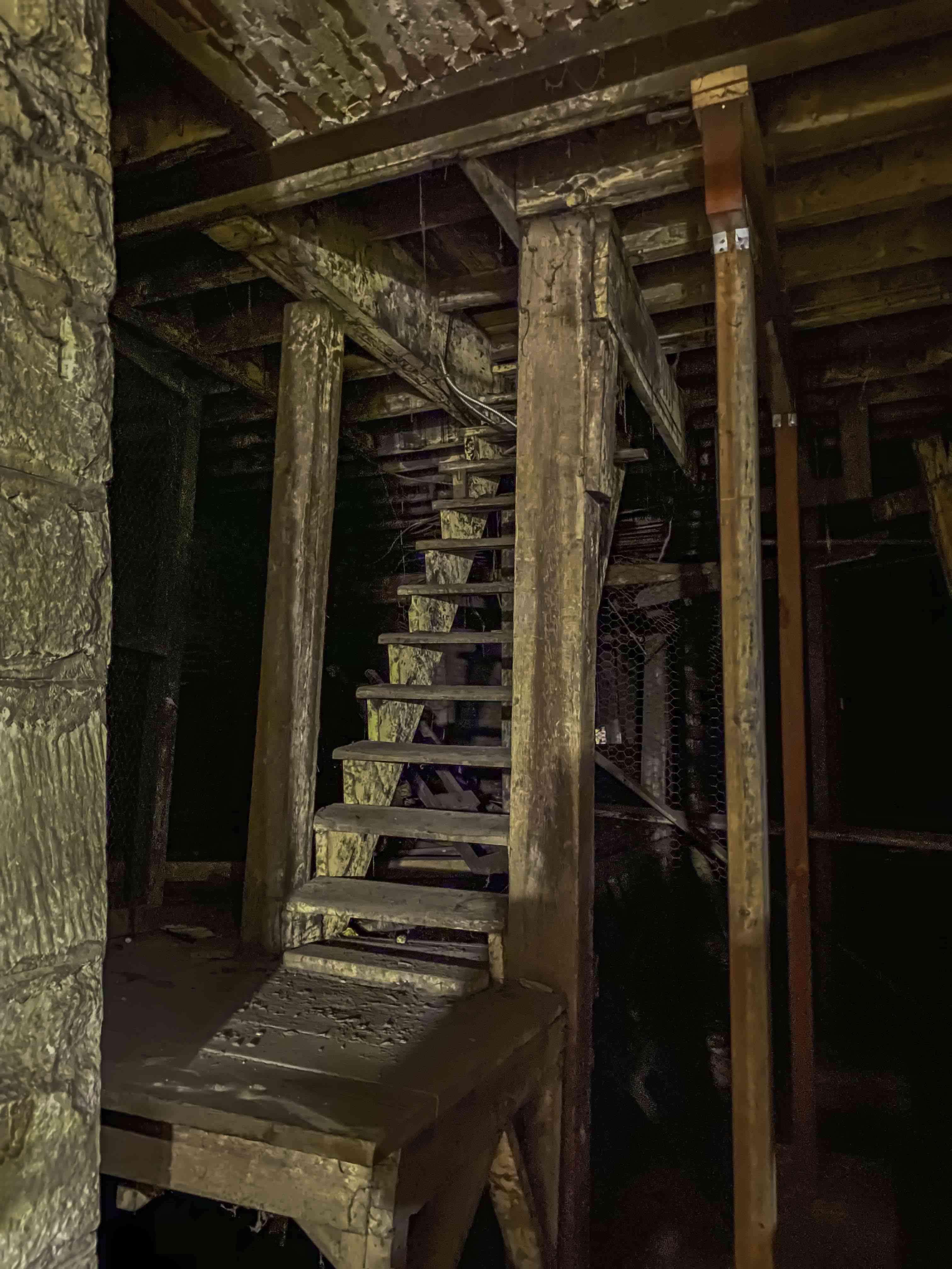Old stairs underground in Seattle