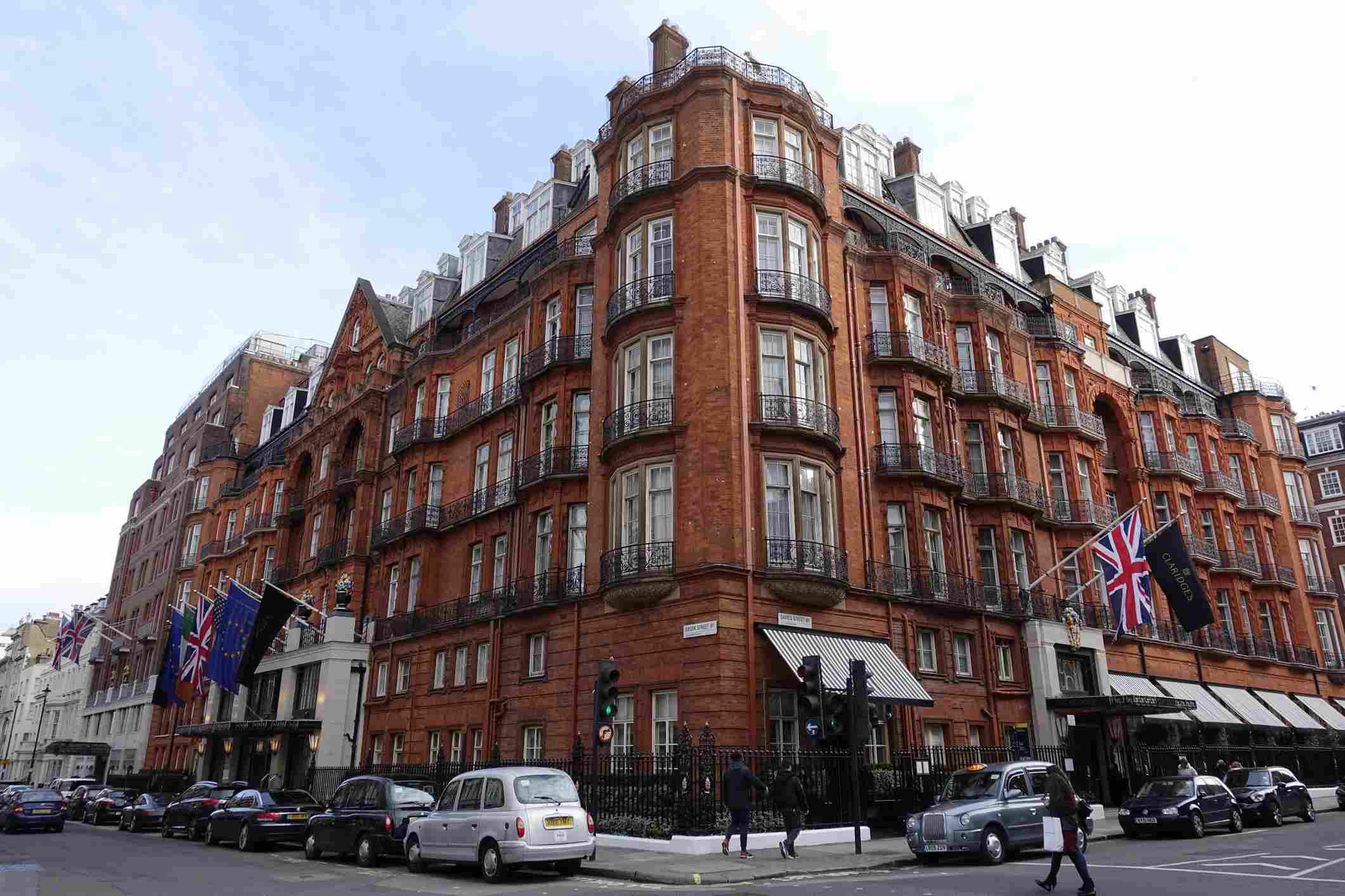 Claridge's Hotel in London.