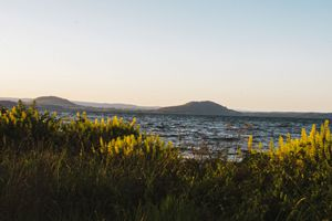 A look at Lake Taupo during sunset