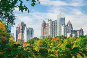 Midtown Atlanta Skyline in Fall
